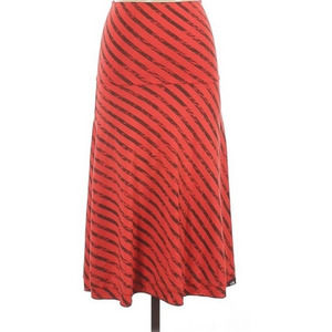 THE NORTH FACE Red Skirt Striped A-Line Fold Over